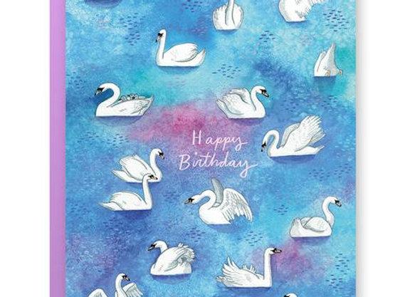 Birthday Swans Card