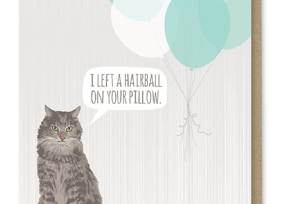 Hairball Happy Birthday Card