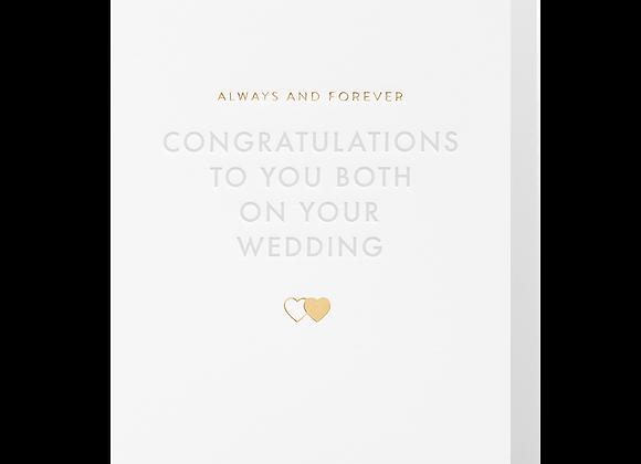 Congratulations To You Both Wedding Card