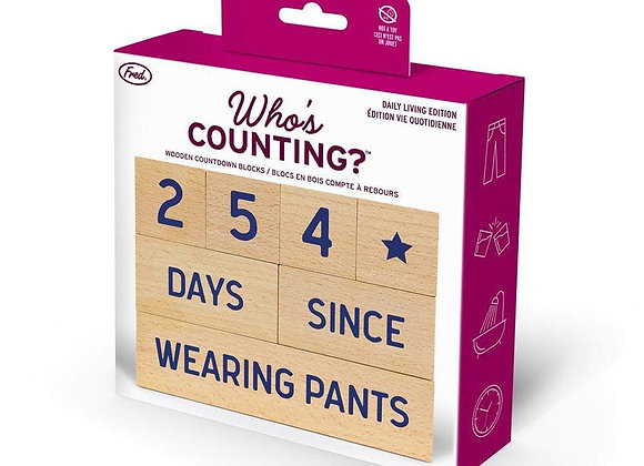 Who's Counting? Daily Living Wooden Blocks