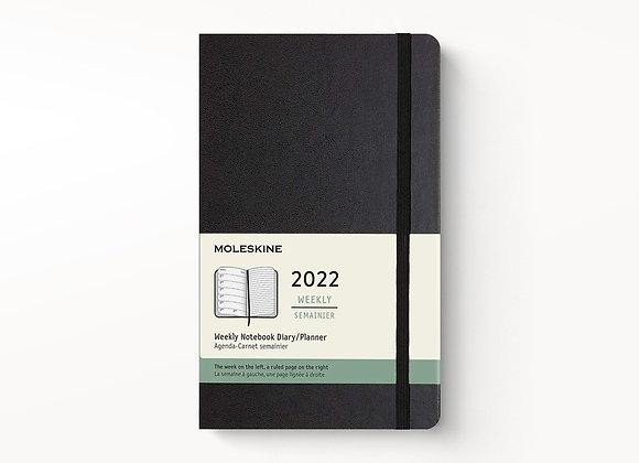 12 Months Pocket Weekly Notebook Black Cover Agenda