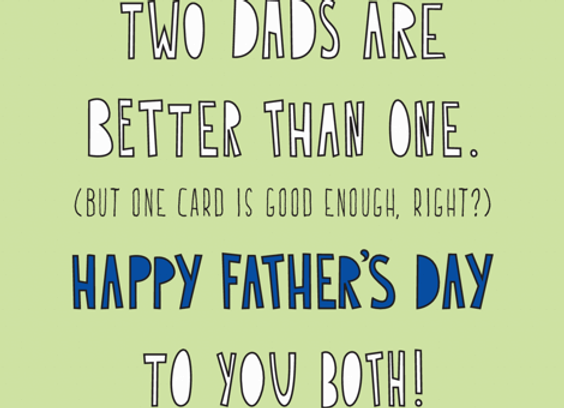 Two Dads One Card