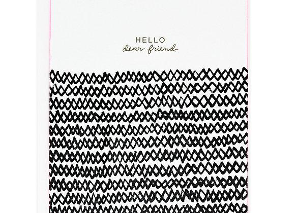 Hello Zig Zag Pattern Card