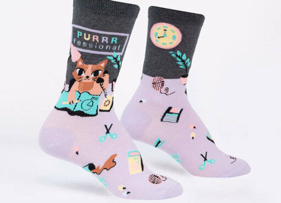 Women's Crew Purrrfessional Socks