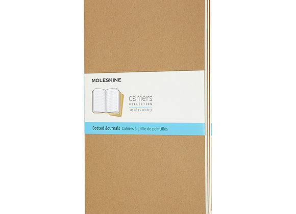 Cahier Large Kraft Brown Set Of 3 Dotted Journal