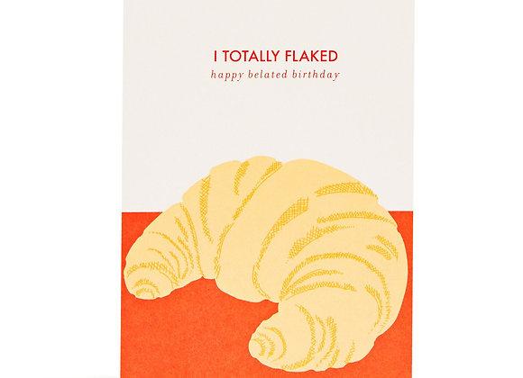 Belated Birthday Croissant Card