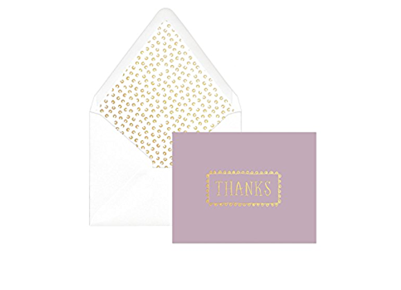 Lilac Hand Drawn Thank You Boxed Cards