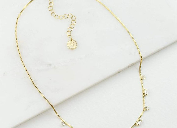 Josie Crystal Necklace Gold