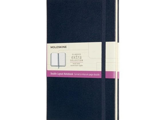 Classic Large Navy Cover Double Layout Notebook