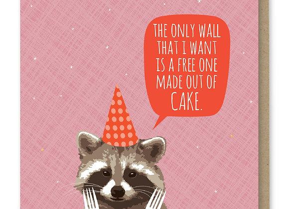 Cake Wall Happy Birthday Card