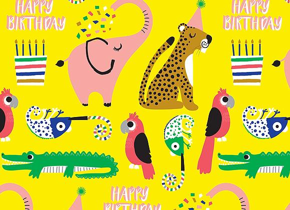 Safari Soiree Birthday Gift Wrap