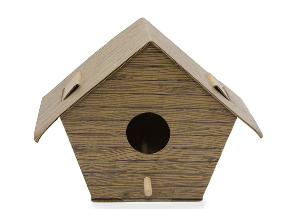 DIY Bird House Log Cabin