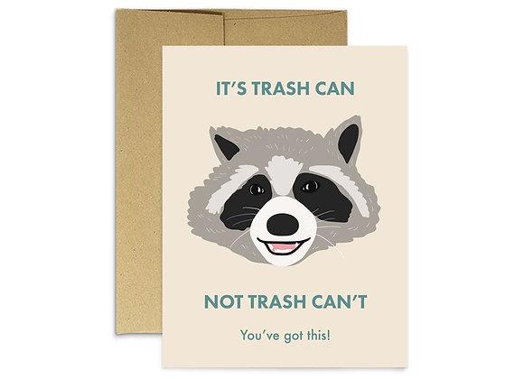 Raccoon Trash Can Card