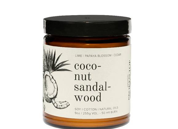 Coconut Sandalwood Soy Candle