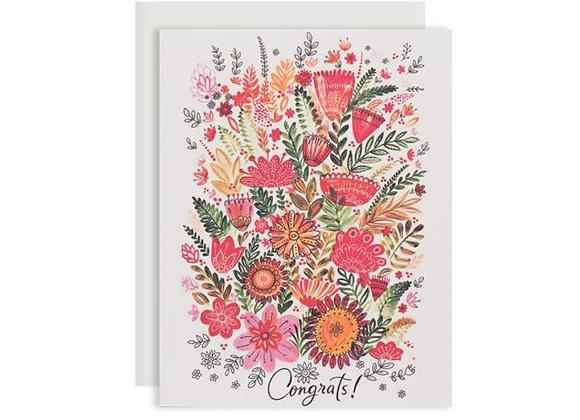 Colourful Flower Congrats Card