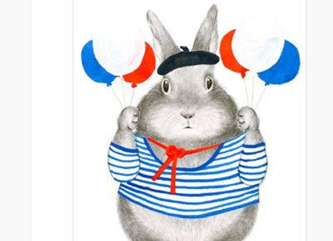 Bon Anniversaire Bunny Birthday Card