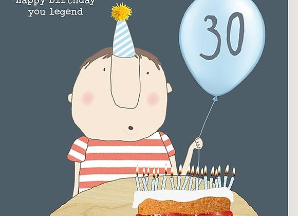 30 Male Legend Birthday Card