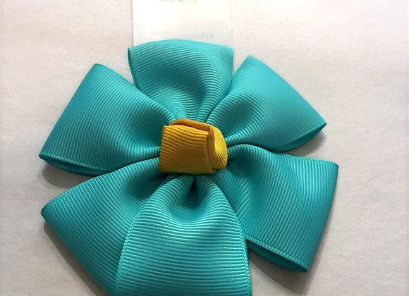 Grossgrain Bow Flower Retro