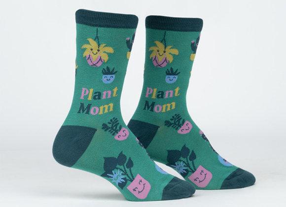Women's Crew Plant Mom Socks
