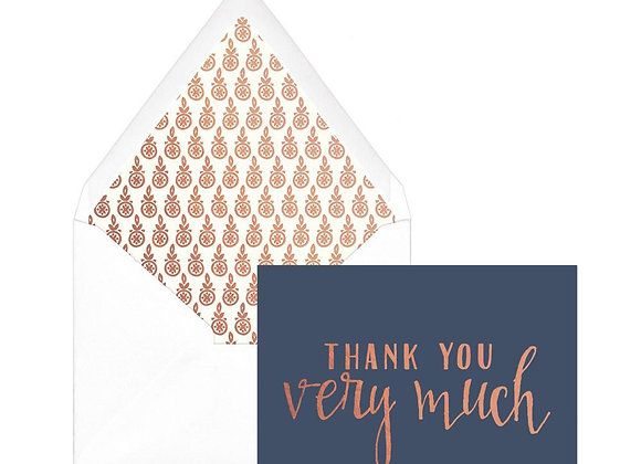 Navy Cooper Thank You Boxed Notes