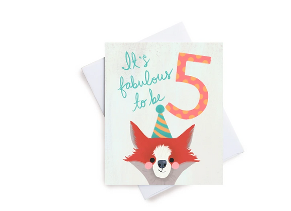 Fabulous Five Birthday Card