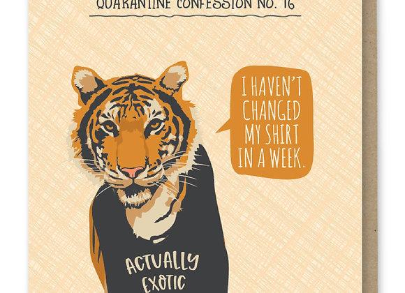 Confess Tiger Card