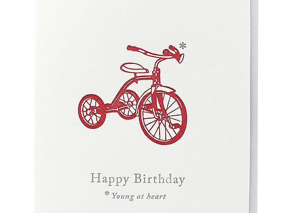 Young At Heart Trike Card