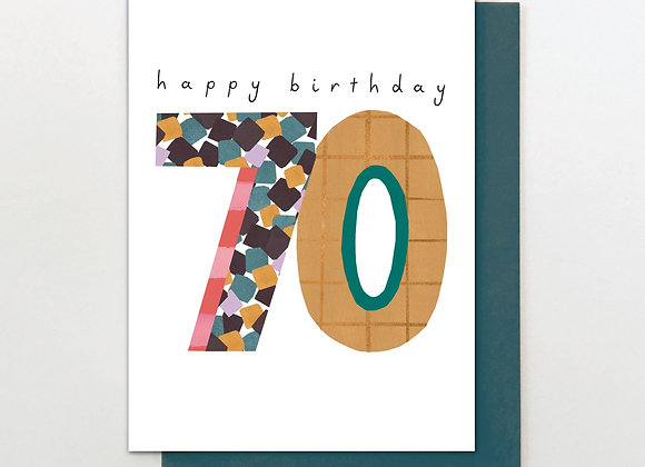 70 Hello Squares Birthday Card