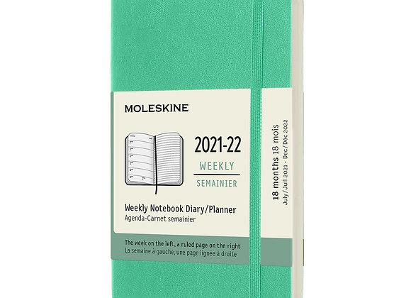 18 Months Pocket Weekly Notebook Ice Green Agenda