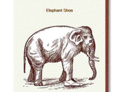 Elephant Shoe Card