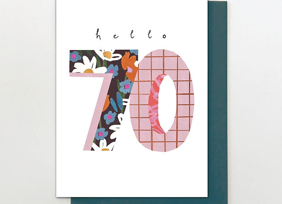 70 Hello Flowers Birthday Card