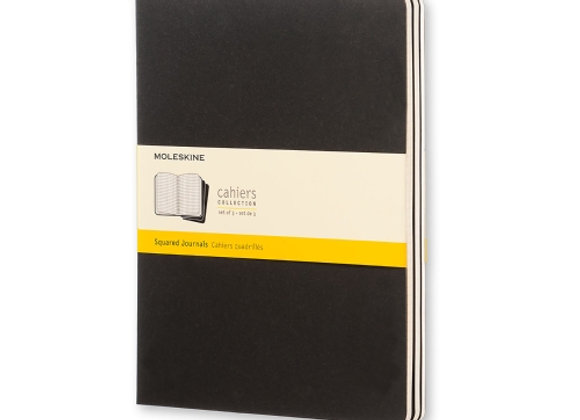 Cahier XL Black Set Of 3 Square Journals