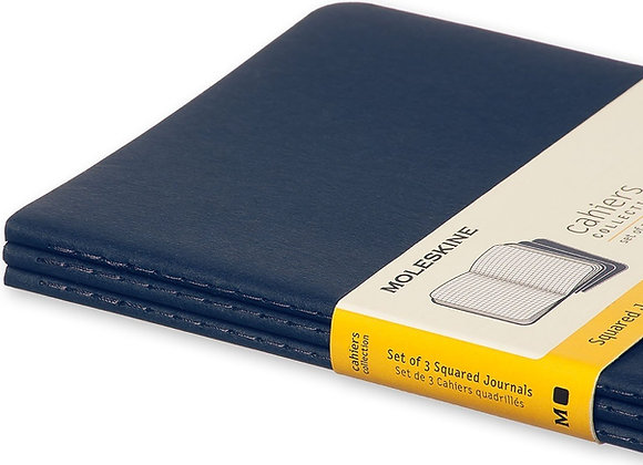 Cahier XL Blue Set Of 3 Square Journals