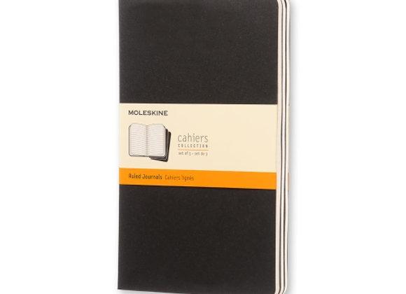 Cahier Large Black Set Of 3 Ruled Journals