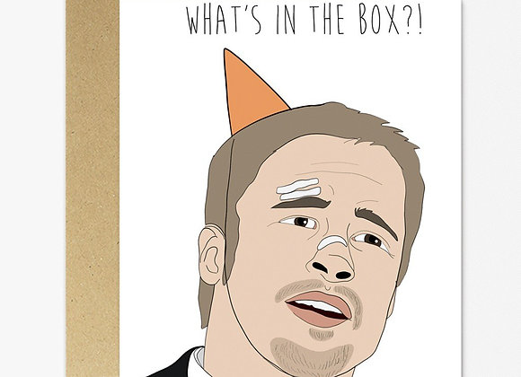 Se7en What's In The Box Birthday Card