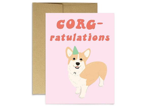 Corg-ratulations Card