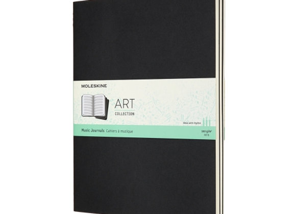 Art Collection X-Large Black Music Notebook & Cahier