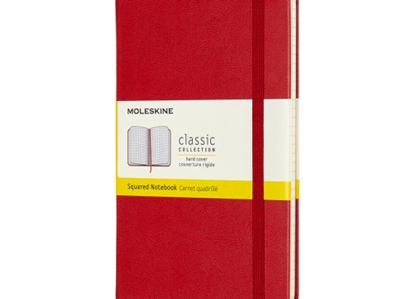 Classic Pocket Red Cover Square Notebook