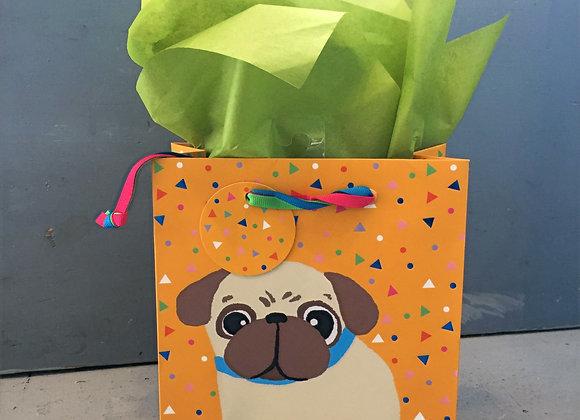 Pug Love Small Gift Bag