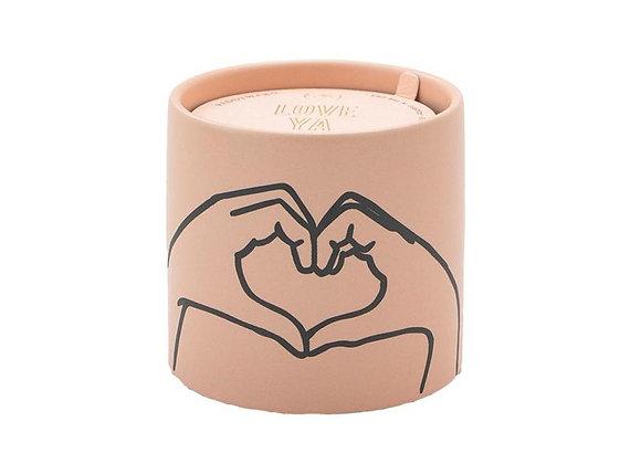 Heart Tobacco & Vanilla Ceramic Candle 5.75oz