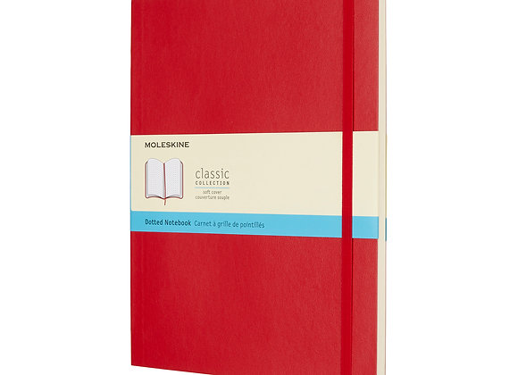 Classic Pocket Red Soft Cover Dot Notebook