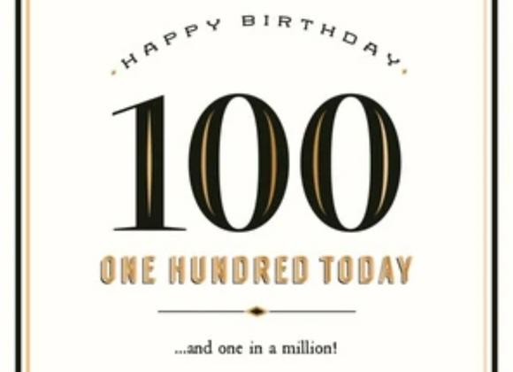 100 One In A Million Birthday Card