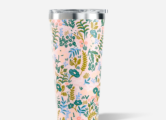 Rifle Paper Gloss Pink Tapestry 16oz Tumbler Cup