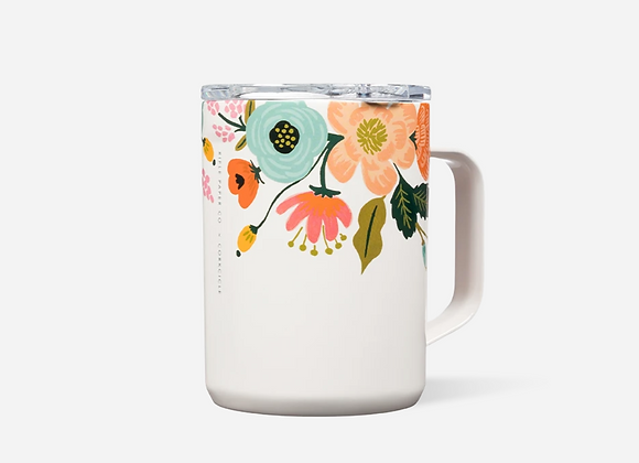 Rifle Paper Gloss Cream Lively Floral 16oz Mug