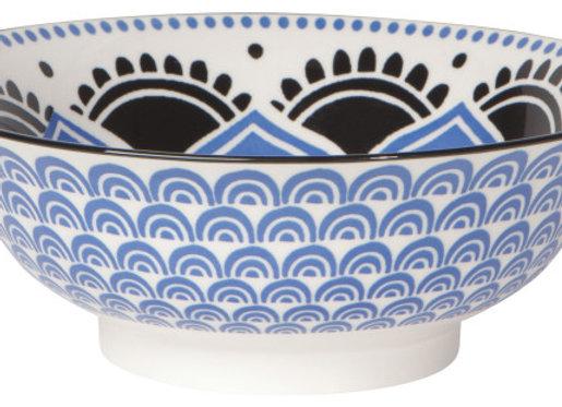 """Blue Floral Bowl 8"""""""