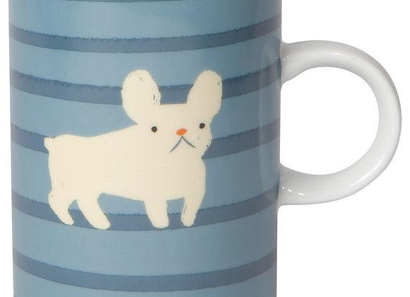 Frenchie and Cat Tall Mug