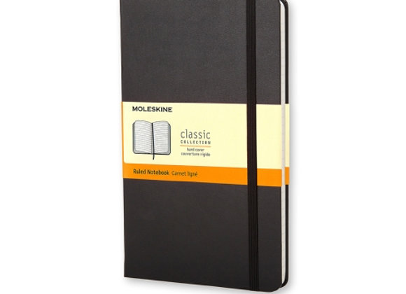 Classic Pocket Black Cover Ruled Notebook