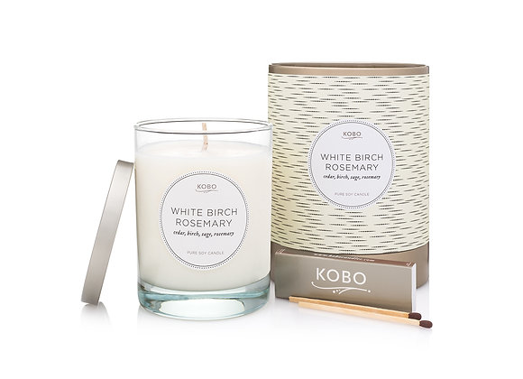White Birch & Rosemary Kobo Coterie Series Candle