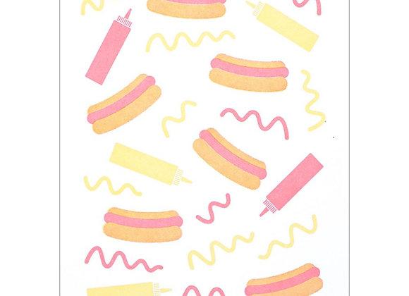 Hot Dog & Sauce Card