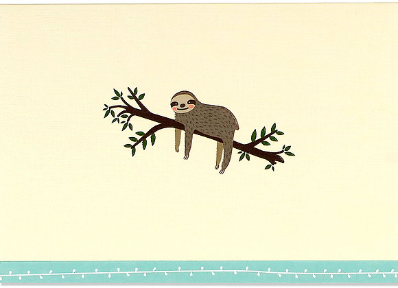 Sloth Blank Boxed Cards